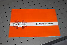 Opel Le Mans Electronic Radio Bedienungsanleitung