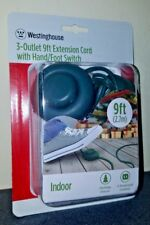 Westinghouse New Package 9ft 3-Outlet Hand Foot Switch Indoor Extension Cord