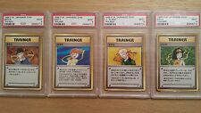 Brock, Misty, Lt. Surge and Erika PSA MINT 9 1998 Japanese Gym Pokemon Cards.