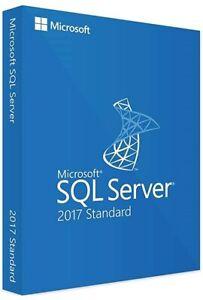 SQL Server 2017 Standard Product Key License MS 24 CPU Cores Genuine