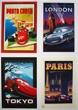 4 Disney Store Lithographs CARS 2 - 2011 MINT 10x14 Lithos with Portfolio