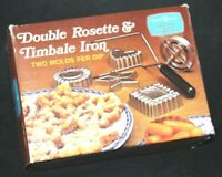 Nordic Ware Nordicware Double Rosette &  Timbale Iron 4 Form Set 01300 Vintage!