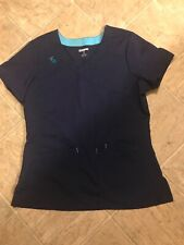 womens navy blue scrub top Size S Scrubstar