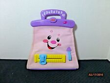 VTG Fisher Price Purse Laugh& Learn Talking Musical Pink + Lipstick 2008 Mattel
