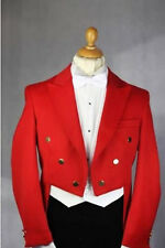 Tailcoat Groom ( Red Jacket+Pants+Tie+Vest) custom made Men Wedding Suits Tuxedo