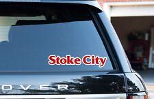 """Stoke City Ciudad Ventana/Parachoques Pegatinas/Calcomanías 2 Pack 8"""" 200 mm Coche Camión Van"""