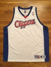Authentic Champion LA LAC Los Angeles Clippers Blank Home White Jersey 56 3XL