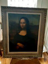 Antique Original Oil Painting Copy Of The Mona Lisa.