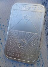 1 oz. No Lie Gets To The Other Side Silver Shield art bar .999 fine silver