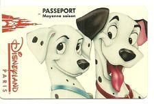 RARE / PASSEPORT EURO DISNEY : MICKEY 101 DALMATIENS DISNEYLAND PARIS EURODISNEY