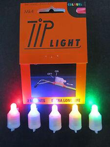 MK4 TIP LIGHTS X 2/3 BLUE GREEN RED PINK YELLOW WHITE  SEA FISHING COD/BASS/CARP