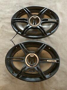 """Vintage Alpine SPS-690A Car Stereo Speakers 6"""" X 9"""" Coaxial 3-Way System 250W"""