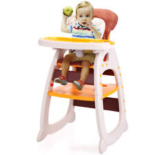 3in1 Convertible Infant High Chair Play Table Seat Booster Toddler Feeding Tray