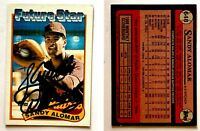 Sandy Alomar Signed 1989 Topps #648 Card San Diego Padres Auto Autograph