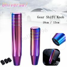 Universal Manual Car Gear Stick Shifter Knob Lever Aluminum Neo Chrome 18cm/13cm