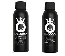 JIZZLE JUICE  - 2 PACK - KING COCK REAL FEEL PERSONAL Cum LUBRICANT 2 oz BOTTLES