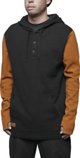 Thirty Two 32 Mens DIXON THERMAL HOODED PULLOVER Black Size Xlarge