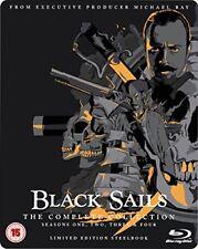 BLACK SAILS Stagioni 1-4 BOX 13 BLURAY in Inglese Steelbook Edition NEW .cp