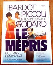 LE MEPRIS - Godard / Bardot / Piccoli - Affiche Cinéma (40x60)