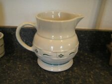 Longaberger Pottery Woven Traditions Heritage Green 2 Qt. Pitcher- Uec-Usa