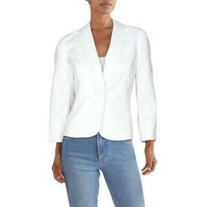 Kasper Womens Textured Leaf Business One-Button Blazer Jacket Petites BHFO 4663