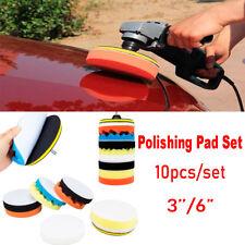 "3""/6"" Waxing Polishing Sponge Pad Buffing Car Auto Polisher Buff Tool Drill Kit"
