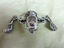 HARLEY 7 INCH HEADLIGHT VISOR CHROME SKELETON METAL ORNAMENT             33-1936