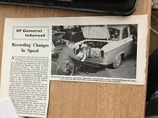 m9-9b ephemera 1960s article thornton cheshire research centre shell speed chang