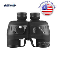 10X50 Binoculars BAK4 with Rangefinder Compass High Power Telescope for Hunting
