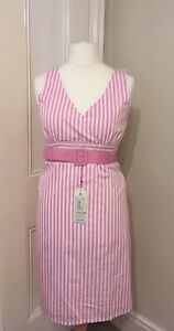 BNWT Tayberry Pink & White Vintage Style Striped Summer Dresses