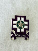 Authentic US Army 475th Combat Support Hospital Unit DI DUI Crest Insignia D-21