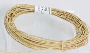 Waxed hemp cord 100% with Pure Bees wax  Hemp Twine -WICK  Holds Flame