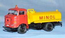 "ses (s.e.s) - IFA W50 L Tanklastwagen ""Minol"" 1:87 H0 -neuwertig, unbespielt OVP"