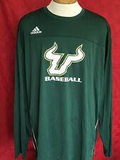 RARE NEW USF BULLS Baseball Adidas long sleeve Climacool Jersey shirt coach