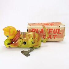 1940'S PLAYFUL CAT WIND-UP TOY WITH BOX, MADE IN OCCUPIED JAPAN