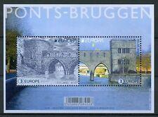 Belgium 2018 MNH Bridges Europa Ponts Bruggen Bridge 2v M/S Architecture Stamps