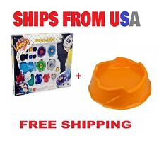 Beyblade Top Flight Rapidity Metal Fusion Fight String Toy Set Beystadium Arena