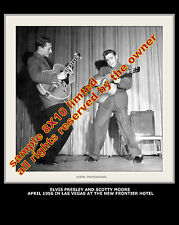 ELVIS PRESLEY PHOTOGRAPH  w. Scotty Moore  8X10  VEGAS MINT PHOTO 1950`s LIMITED