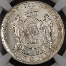1920 Maine Commemorative Silver Half Dollar, NGC MS-65