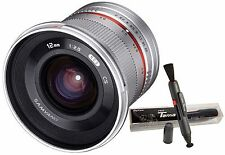 Samyang 12mm F2.0 Nano MC APSC Extra Wide Angle (Silver) Lens for Sony E ILCE