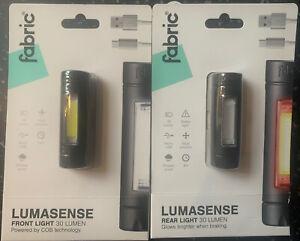 Fabric Lumasense 30 Lumen Bike Light Set Multi-Mode Front & Smart Braking Rear