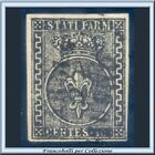ASI 1852 Parma cent. 10 nero su bianco n. 2 Usato Diena Antichi Stati Italiani