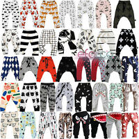 Newborn Kids Baby Boys Girl Elastic Harem Pants Toddler Trousers Printed Clothes