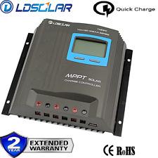 LDSOLAR MPPT 30A Solar Regulator Charge Controller 12v 24v Auto USB Full Log LCD