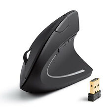 Vertical 2.4G Wireless Mouse Game Ergonomic Mice 1600DPI USB Rechargeable!!!