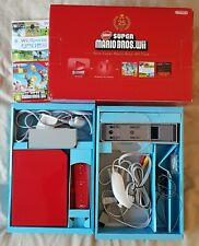 BOXED Red Wii Console + Official Remote Plus + Super Mario Bros + Wii Sports
