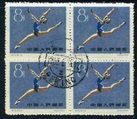 China 1959 PRC C72-13 First Ntl Sports Gymnastics Scott #479 CTO Block S479