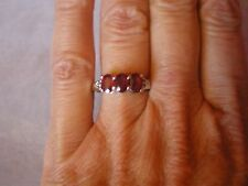 Ruby & Topaz ring, 2.17 carats, size N/O, in 2.84 grams of 925 Sterling Silver