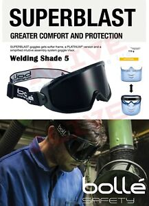 Bolle SUPERBLAST Welding Safety Goggles Shade 5 Fit Over Glasses Spectacles