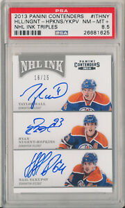 2013-14 Contenders Ink TAYLOR HALL RYAN NUGENT-HOPKINS Yakupov RC Triple Auto 25